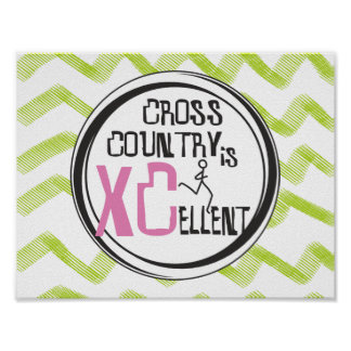 XC Pink Cross Country Running is XCellent Poster