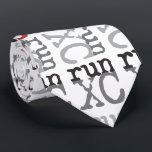 "XC Run - Cross Country Running Mens Tie<br><div class=""desc"">Cross Country Runner</div>"