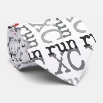 XC Run - Cross Country Running Mens Tie