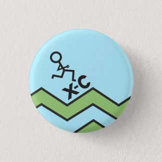 XC Runner Cross Country Pinback Button