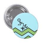 XC Runner Cross Country Pinback Button