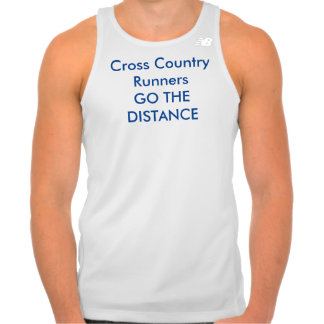 XC Runners GO THE  DISTANCE Running Tank Top