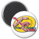 XC TOUGH MOTTO - CROSS COUNTRY 2 INCH ROUND MAGNET