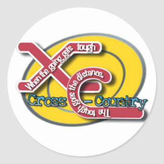 XC TOUGH MOTTO - CROSS COUNTRY CLASSIC ROUND STICKER