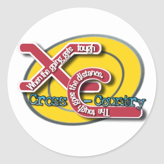 XC TOUGH MOTTO (CROSS COUNTRY) CLASSIC ROUND STICKER