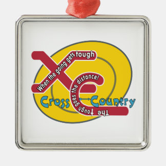 XC TOUGH MOTTO - CROSS COUNTRY METAL ORNAMENT