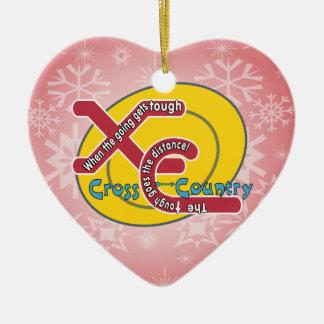 XC TOUGH MOTTO - CROSS COUNTRY CHRISTMAS TREE ORNAMENT