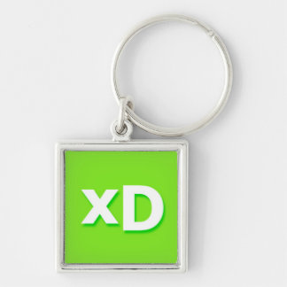 xD Internet Text Message Phrase Keychain