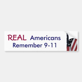 XD- REAL, Americans, Remember 9-11 sticker Car Bumper Sticker