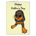 XD- tarjeta divertida del día de padre del dibujo