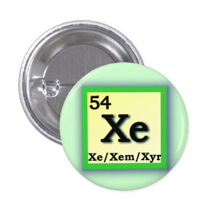 Xe Xem - Periodic Table personal gender pronouns Button