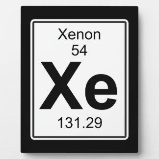 Xe - Xenon Plaque