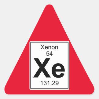Xe - Xenon Triangle Sticker