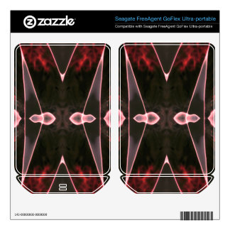 Xed Out Burning Red FreeAgent GoFlex Decals