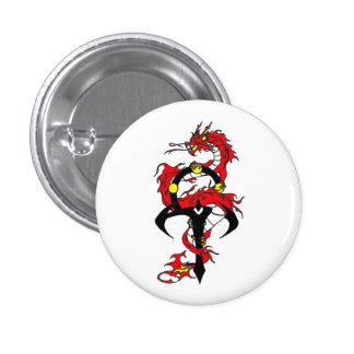 xen el botón del dragón pin redondo de 1 pulgada