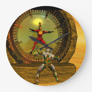 XENIA MEETS TITAN IN THE DESERT OF HYPERION WALL CLOCK