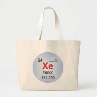 Xenon Individual Element of the Periodic Table Large Tote Bag