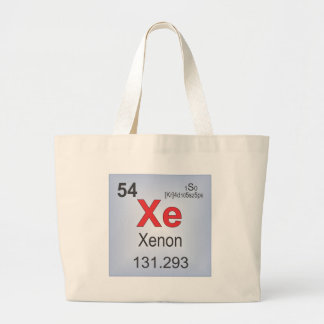 Xenon Individual Elements of the Periodic Table Large Tote Bag
