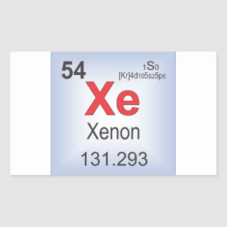 Xenon Individual Elements of the Periodic Table Rectangular Sticker