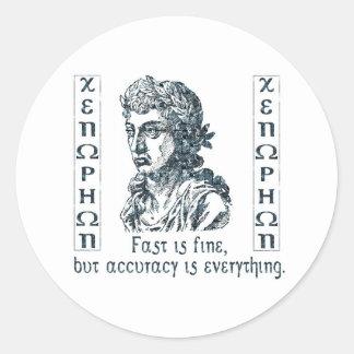 Xenophon Classic Round Sticker