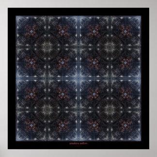 xenoterra pattern poster