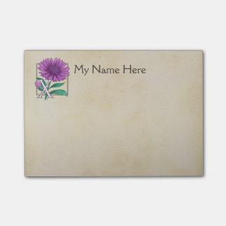 Xeranthemum Flower Alphabet Monogram Post-it® Notes