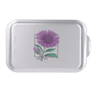 Xeranthemum Flower Monogram Artwork Cake Pan