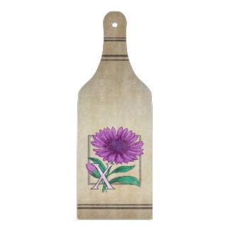 Xeranthemum Flower Monogram Artwork Cutting Board