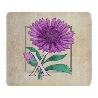 Xeranthemum Flower Monogram Artwork Cutting Boards