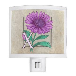 Xeranthemum Flower Monogram Artwork Night Lights