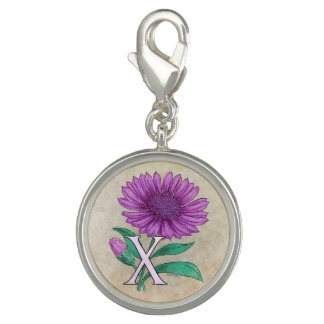 Xeranthemum Flower Monogram Artwork Photo Charm