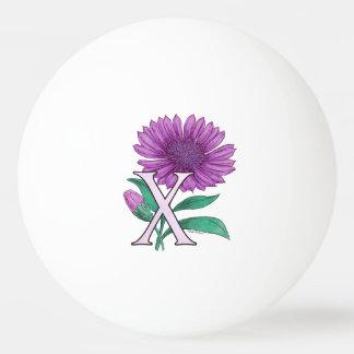 Xeranthemum Flower Monogram Artwork Ping-Pong Ball