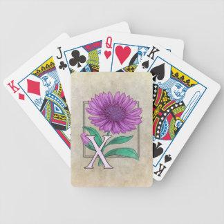 Xeranthemum Flower Monogram Artwork Bicycle Playing Cards