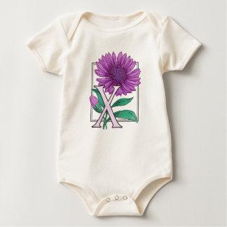 Xeranthemum Flower Monogram Baby Creeper