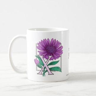 Xeranthemum Flower Monogram Coffee Mug