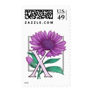 Xeranthemum Flower Monogram Stamps