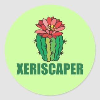 Xeriscaping Classic Round Sticker