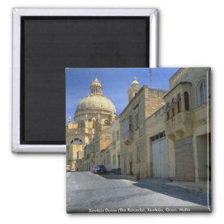 Xewkija Dome (The Rotunda), Xewkija, Gozo, Malta 2 Inch Square Magnet