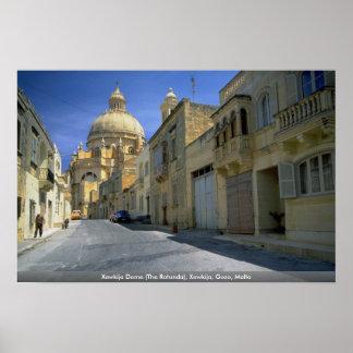 Xewkija Dome (The Rotunda), Xewkija, Gozo, Malta Print