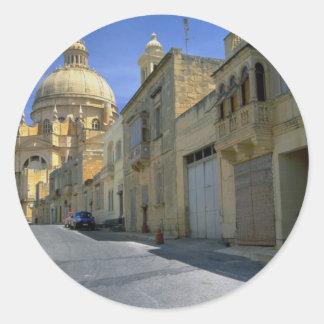 Xewkija Dome (The Rotunda), Xewkija, Gozo, Malta Round Stickers
