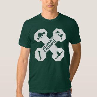 Xfit Dumbell Logo White T Shirts