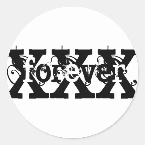 XFOREVERX ROUND STICKER