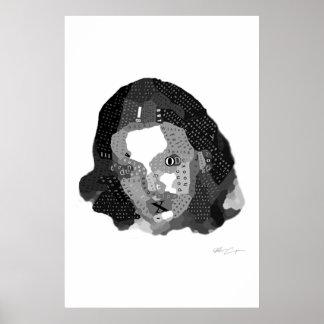 """""""XGirlfriend"""" decoupage by Matt Cupan Poster"""