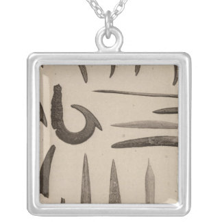 XI Articles of bone, Southern California Silver Plated Necklace