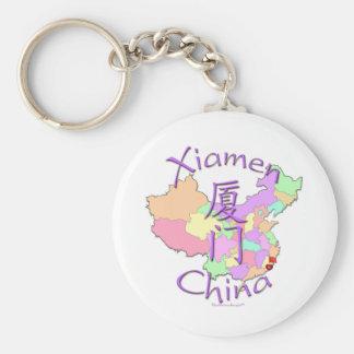 Xiamen China Llavero Redondo Tipo Pin