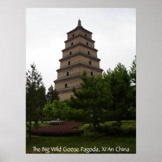 Xi'an Big Wild Goose Pagoda Poster