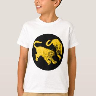 Xian China 2002 Gold Ghost Tigers Black Circle Tra T-Shirt