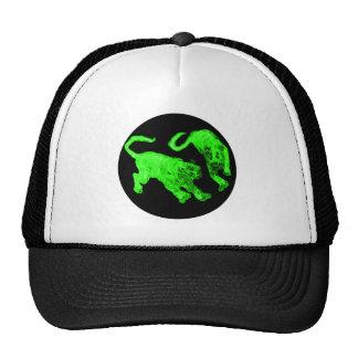 Xian China 2002 Green Ghost Tigers Black Circle Tr Trucker Hat
