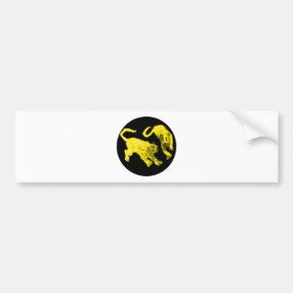 Xian China 2002 Yellow Ghost Tigers Black Circle T Bumper Sticker