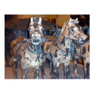 xi'an horses postcard